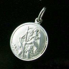 Silver St Christopher 22mm personalised engraved SPECIAL OFFER ref. SCP22